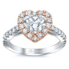 Halo Wedding Rings by Heart Shaped Halo Engagement Ring Rose Gold