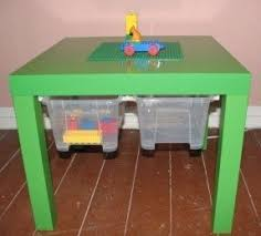 childrens play table with storage foter