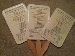 wedding program on a fan paper fan wedding programs do it yourself n save