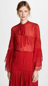 blouse pic giambattista valli tie neck ruffle blouse shopbop