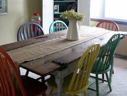remodelaholic old barn door recycled into kitchen table