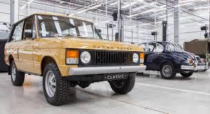 land rover pickup truck inside jaguar land rover classic car center drivetribe