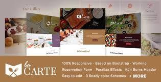 la carte restaurant food html5 template by ingridk themeforest