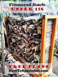 Diy Firewood Storage Rack Plans by