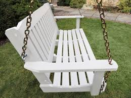 Plastic Wood Patio Furniture by Outdoor Synthetic Plastic Wood Porch Swing Set
