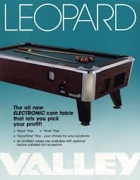 Valley Pool Table by The Arcade Flyer Archive Arcade Game Flyers Leopard Pool Table