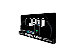 amazon com wall mount cell phone charging station by kwikboost