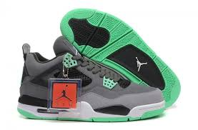 green glow 4 new arrival air 4 iv retro grey green glow cement grey
