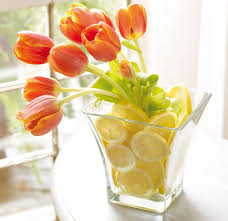 Good Vase Looks Just As Good Using Silk Tulips Fake Lemons From Target And