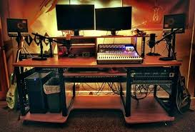 Diy Studio Desk Diy Studio Desk Plans Recording Studio Desk Recording Studio Desk