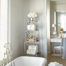 etagere bathroom lucite vanity transitional bathroom sawyer berson