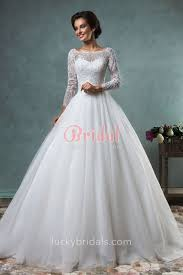 tulle wedding dress illusion pearls beaded sheer sleeve gown tulle wedding