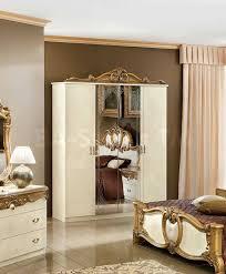 barocco bedroom set 3026 70 barocco bedroom set in ivory gold bedroom sets 7