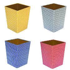 recycled geometric print waste paper bin medium by heart u0026 parcel
