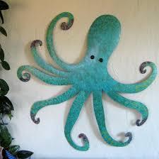 buy a handmade large metal octopus wall sculpture ocean wall decor