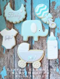 baby shower themed cookies cake in the afternoon made in melbourne