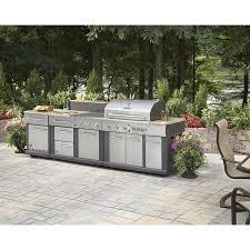 huge outdoor kitchen bbq grill sink refrigerator side