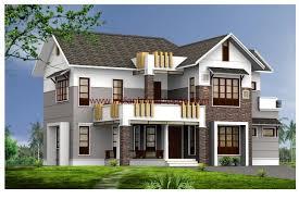 2400 sq ft 4 bedroom home 3d elevation plan