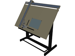 Cad Drafting Table Drafting Table 3d Model 3d Cad Browser