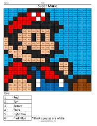 Simple Division Worksheets Super Mario Basic Division Coloring Squared