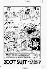 spectacular original comic art ty templetons land with teen titans