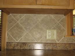 Tile Kitchen Backsplashes Simple 4x4 Ceramic Tile Kitchen Backsplash On Diagonal