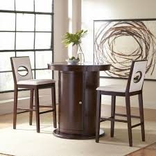 dining room modern 3 pieces counter height dining set with white
