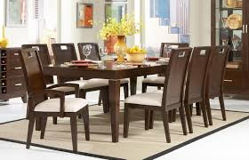 dining room antique dark wood costco dining table with leather