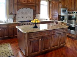 furniture brown wooden kitchen islands lowes with sink and