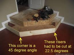 how to cut angles in front corners of hair installing laminate on angled stairs