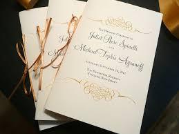 wedding program booklet wedding program booklet gold programs wedding