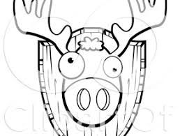 deer head coloring page free coloring page today takewill com