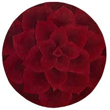 Round Flower Rugs Rose Tufted Round Rug Red Pier 1 Imports