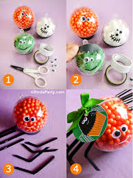 Halloween Party Favors Halloween Kids Crafts Diy Little Monster Candy Baubles Party