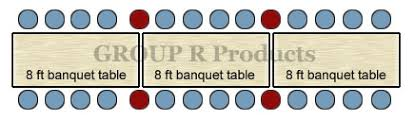 8 ft banquet table dimensions banquet table sizes group r products