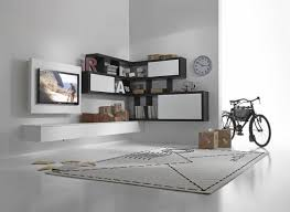 White Wall Unit Bookcases by Modern Living Room Designs That Use Corner Units Living Room Area