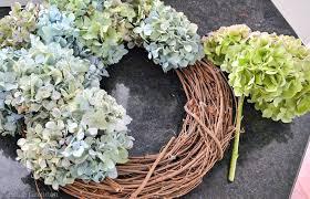 hydrangea wreath diy hydrangea wreath i am a homemaker