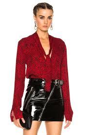 scarf blouse amiri scarf blouse in leopard fwrd