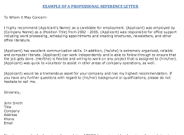 References Examples For Resume by Example Of Professional Reference Letter Http Resumesdesign