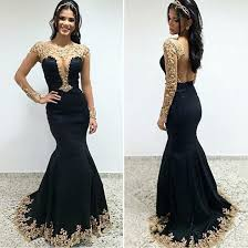 party dress charming mermaid prom party dress black scoop sleeves with