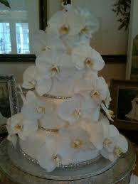 wedding cake with fresh orchids le bonne fleur floral u0026 event design