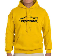 Ford Raptor Yellow - 2017 ford raptor f150 truck outline design hoodie sweatshirt free
