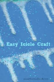 icicle craft easy winter activity for toddlers winter art art