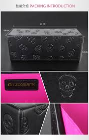 tz cosmetics new 10pcs skull tz brand oval 10pcs makeup brushes