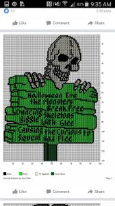 Plastic Halloween Skeletons 6895 Best Plastic Canvas Halloween Images On Pinterest Plastic