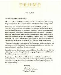 trump speechwriter takes blame for melania u0027s plagiarized speech