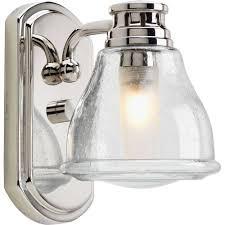 single sconce bathroom lighting progress lighting academy collection 1 light polished chrome bath