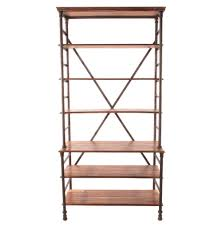 42 Wide Bookcase Pipe Works Reclaimed Wood Industrial Pipe Tall Bookcase Kathy