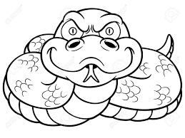 vector illustration cartoon snake coloring book royalty free