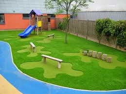 diy backyard playground ideas with simple design and wooden